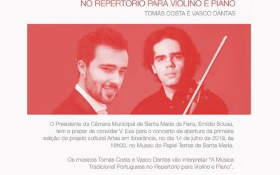 Traditional Music, violin and piano – St.ª Maria da Feira, July 2018