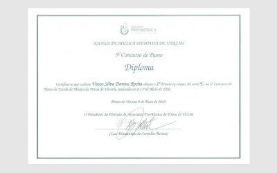 5th Piano Competition of Póvoa de Varzim, PORTUGAL