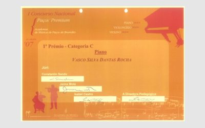 1st National Piano Competition Paços' Premium, PORTUGAL