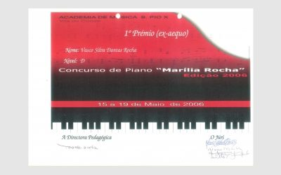 """Piano Competition """"Marília Rocha"""", PORTUGAL"""