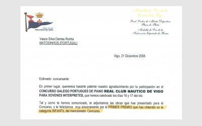 Piano Competition of Real Club Nautico de Vigo, SPAIN