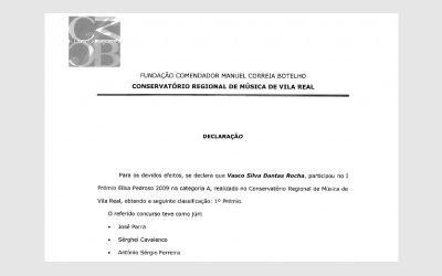 1st Piano Competition Elisa Pedroso, PORTUGAL