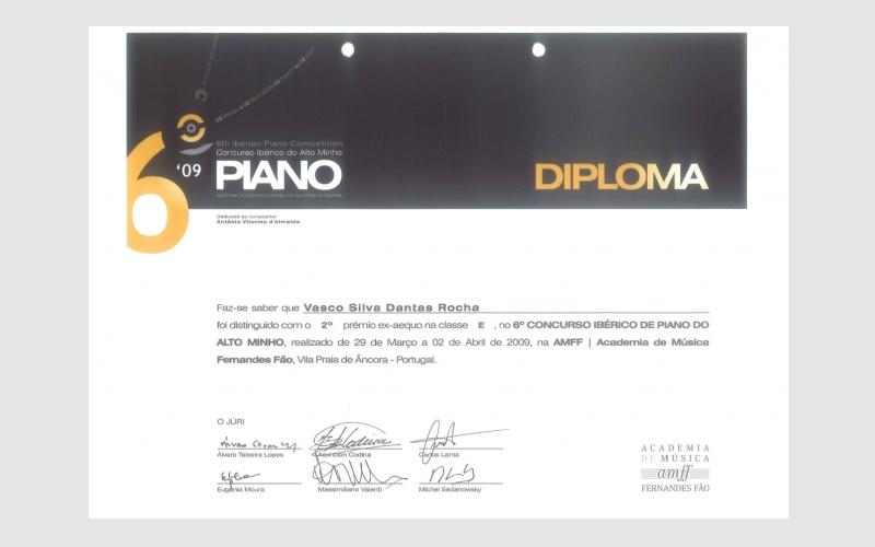 6th Iberian Piano Alto Minho Competition, PORTUGAL