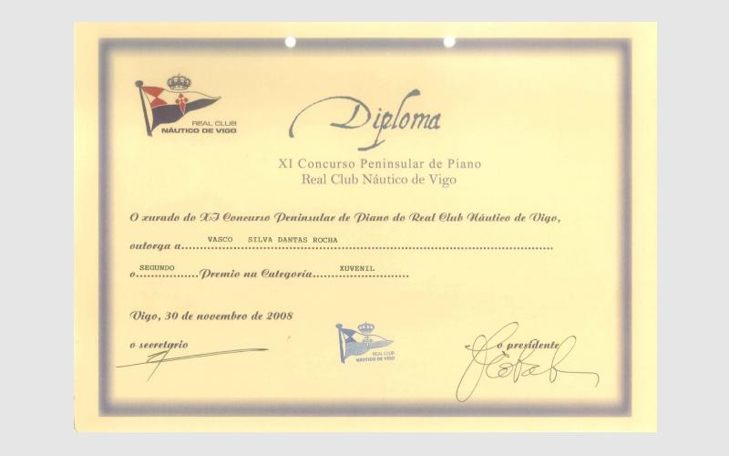 11th Iberian Piano Club Nautico de Vigo Competition, SPAIN