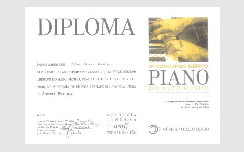 3rd Iberian Piano Alto Minho Competition, PORTUGAL