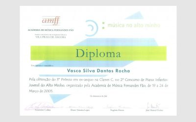 2nd Piano Competition of Alto Minho, PORTUGAL
