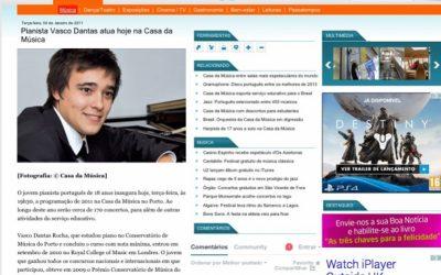 Jornal Boas Notícias, Debut in Casa da Música, Portugal – 2011