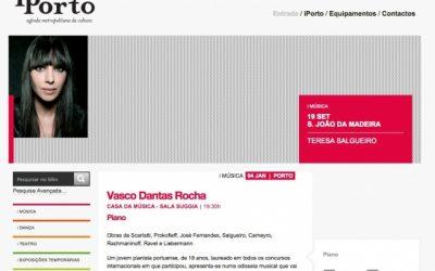 Jornal de Notícias, Debut in Casa da Música, Portugal 2011