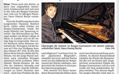 Düren Zeitung, Concert, Germany 2014