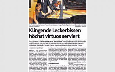 Düren Zeitung, Concert at Düren Schloß Burgau, Germany 2014