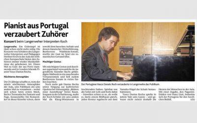 Aachener Zeitung, Recital in Langerwehe, Germany 2013
