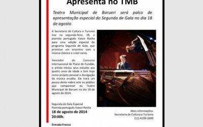 Jornal de Barueri, Recital at Teatro Barueri, São Paulo, Brazil 2014
