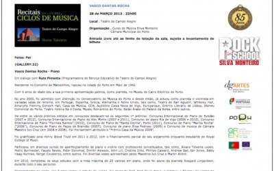 Concert at Teatro Campo Alegre, Portugal – 2013