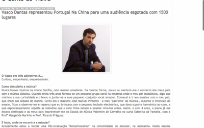 "Interview for the Blog ""O Canto do Vieira"""