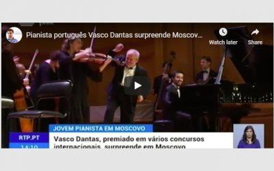 """""""Portuguese Pianist surprises Moscow"""", RTP"""