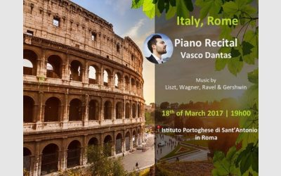 Piano Recital, St. Anthony of Portuguese – Rome, March 2017