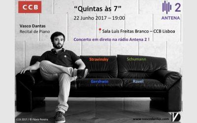 Quintas às 7, Antena 2 radio – Lisbon, June 2017