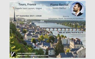 Piano Recital, Tours – France, September 2017