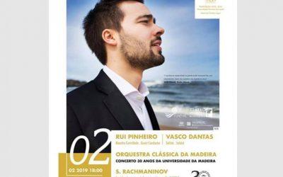 Rachmaninoff – Paganini Rhapsody – Teatro Baltazar Dias, Funchal – Madeira, February 2019