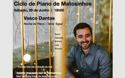 Piano Recital at Ciclo Piano de Matosinhos, Portugal – June 2019