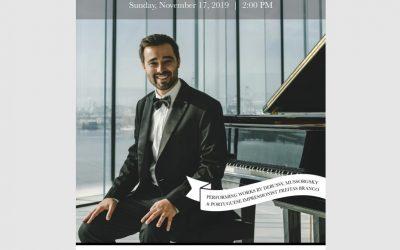 Carnegie Hall solo debut, New York (USA) – November 2019