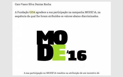 Prémio Mode'16 Fundação GDA