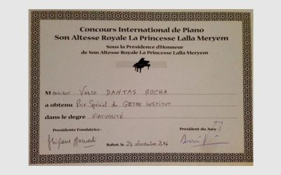 """Special Prize"" at ""Concours International de Piano Son Altesse Royale La Princesse Lalla Meryem"""