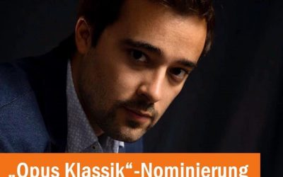 """""""Young Artist of the Year"""" nomination by Opus Klassik 2021 (Germany)"""